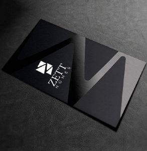 business cards with spot UV printing