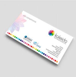 full colour compliment slips