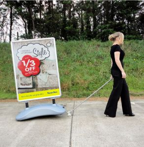 Pavement Sign Trolley