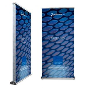 Premium double sided roller banner