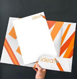 A4 Interlocking Presentation Folders