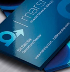 Extra Thick Gloss Laminated Business Cards