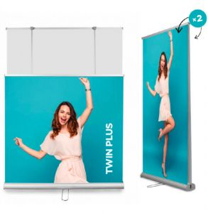budget double sided roller banner