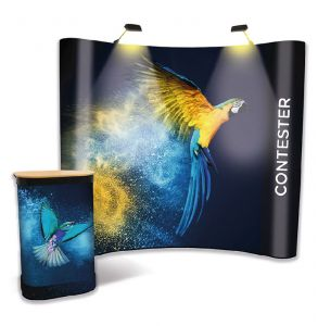 Curved Pop Up Display Stand Bundle