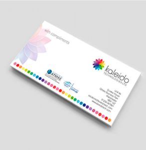 full colour compliment slips