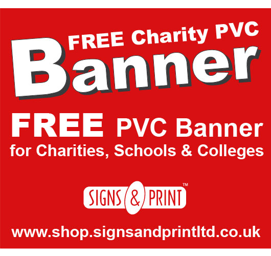 FREE Charity PVC Banner Offer