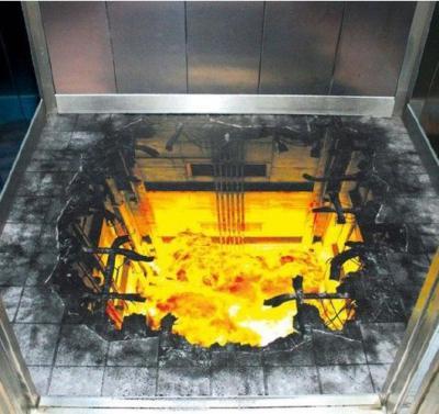Printed floor graphics fools unexacting shoppers