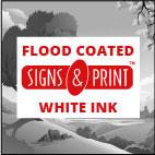 Flood coated white ink option