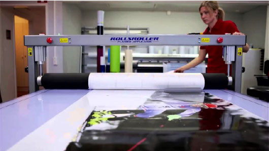 applying print to ridge board
